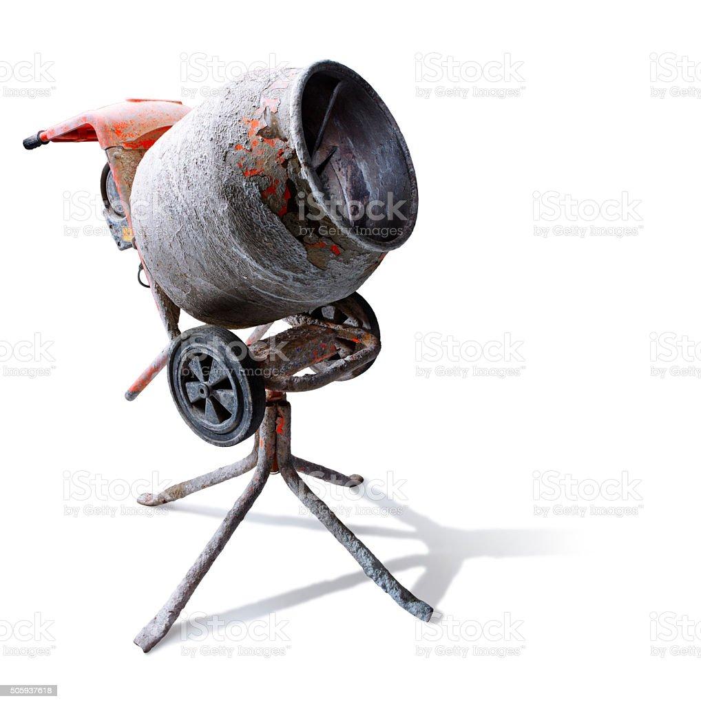 Cement mixer stock photo