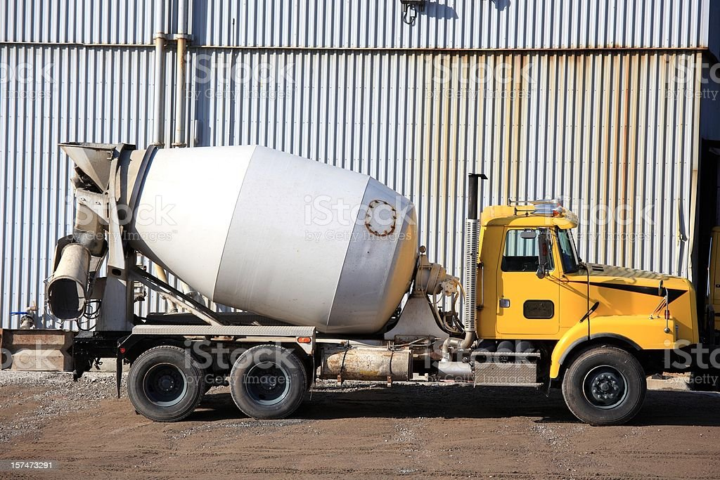 Cement mixer truck royalty-free stock photo