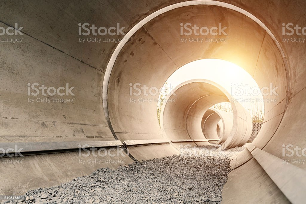 Cement pipe stock photo