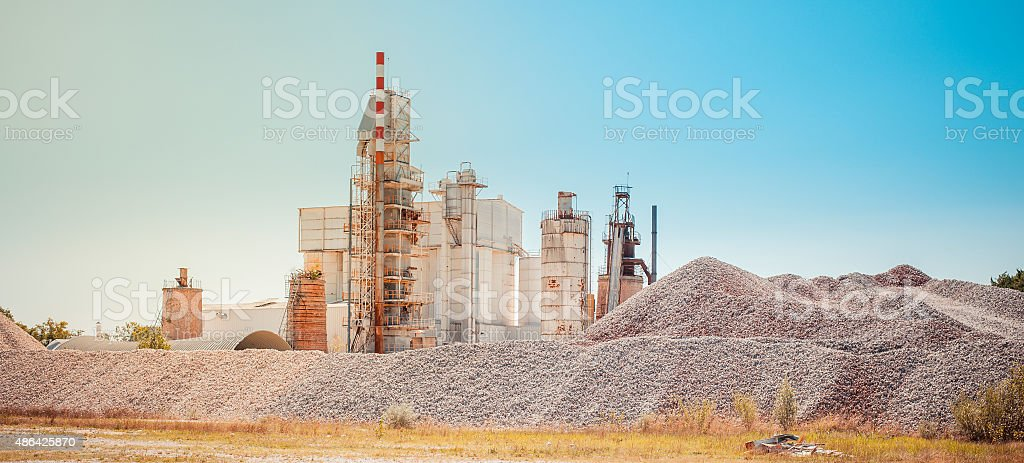 Cement plant stock photo