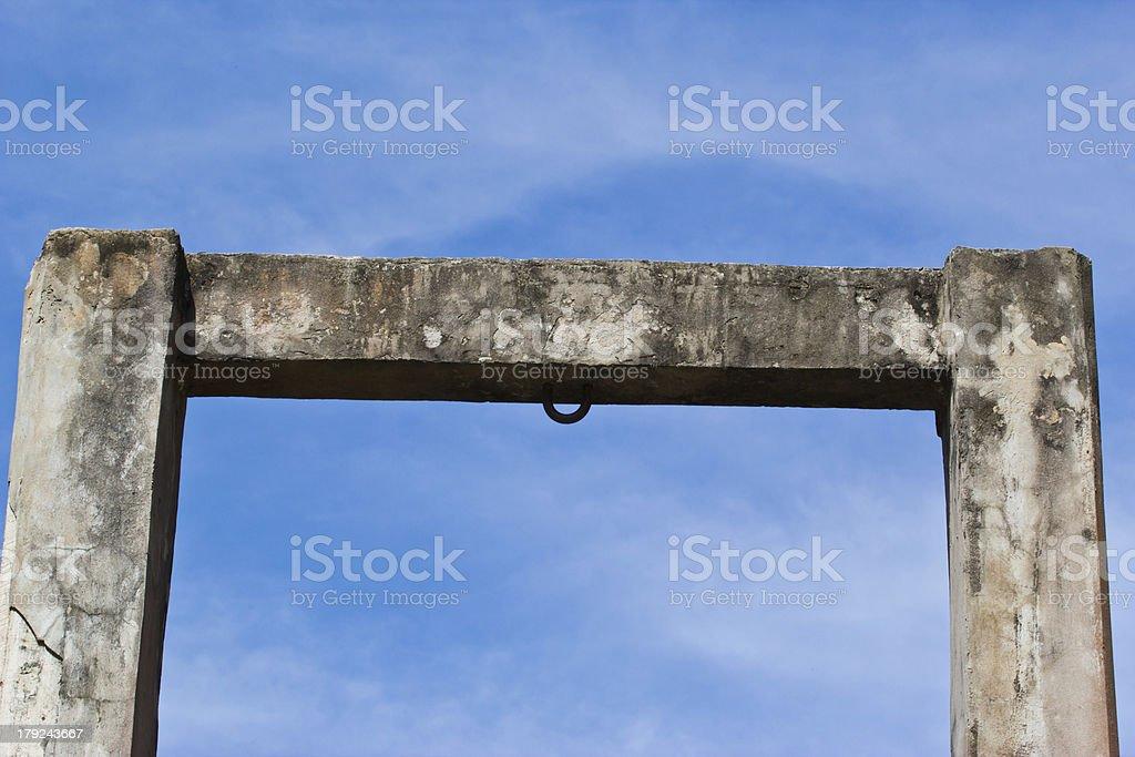 cement pole stock photo