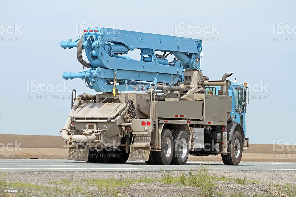 Cement Pumper Truck stock photo