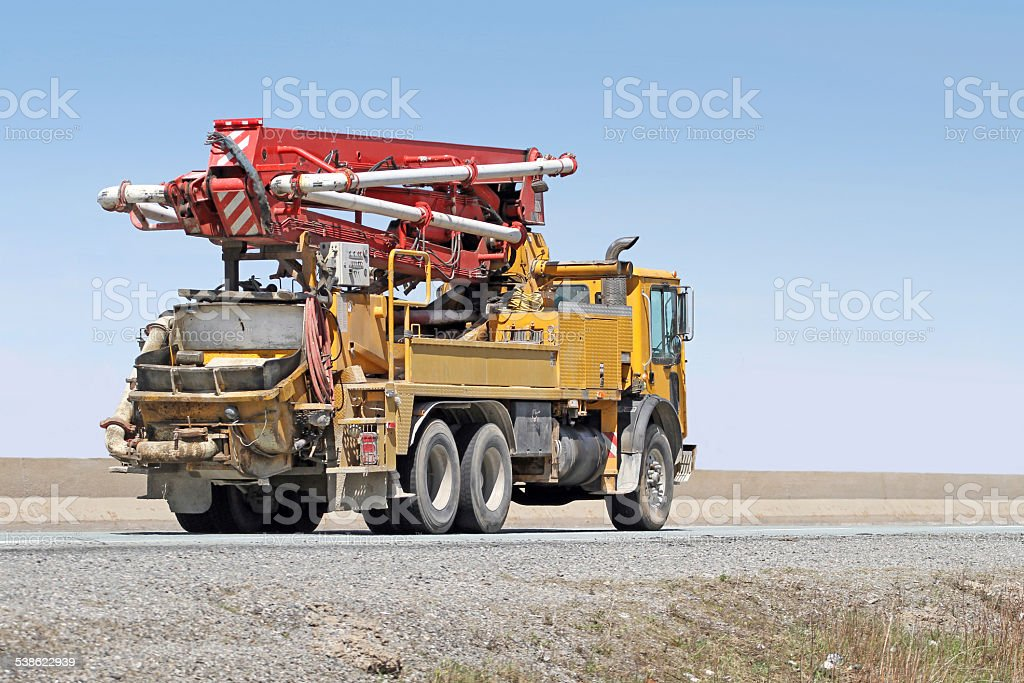 Cement Pumper Truck stock photo