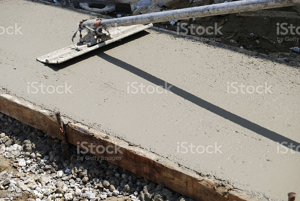 Cement Sidewalk royalty-free stock photo