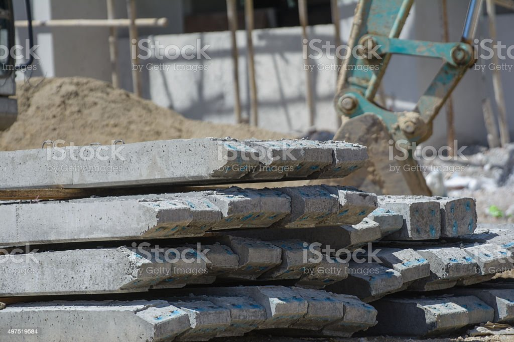 Cement stake stock photo