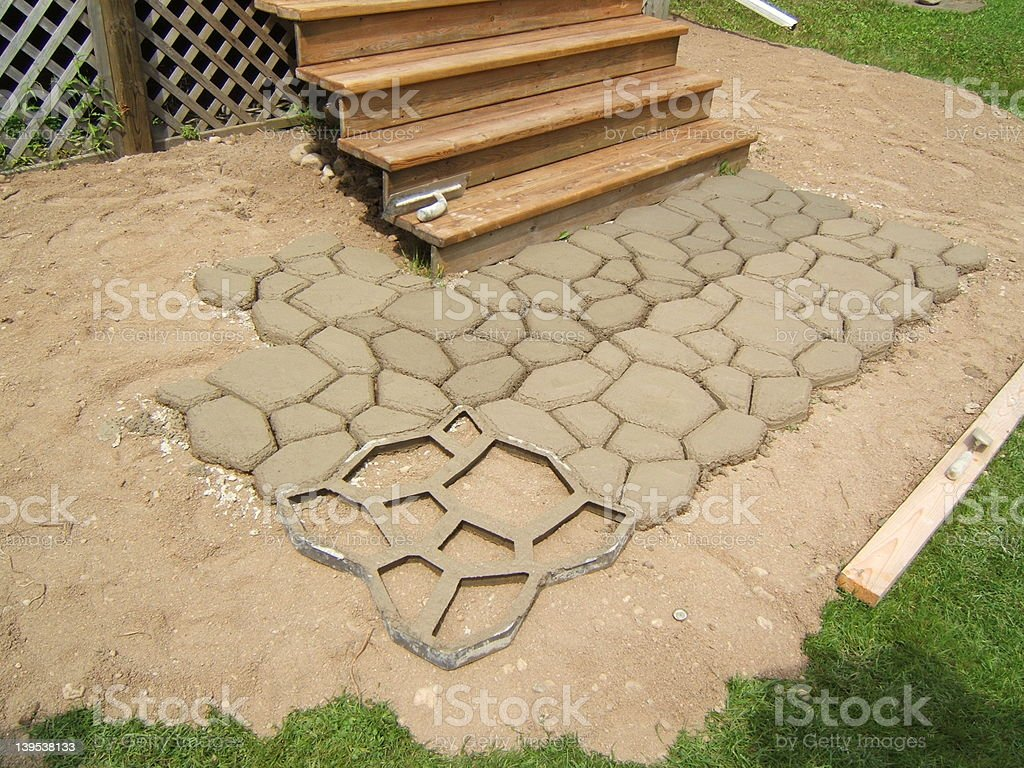 Cement stencil royalty-free stock photo