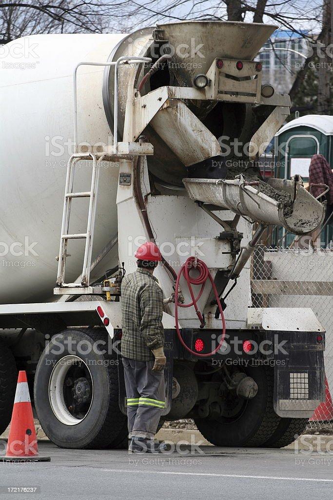 Cement Truck - 2 stock photo