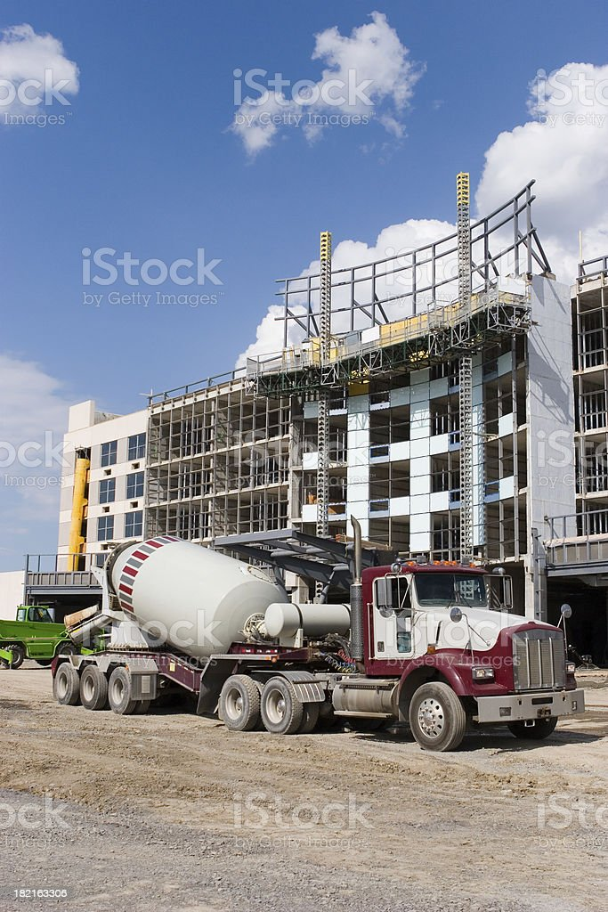Cement Truck in Construction Site royalty-free stock photo
