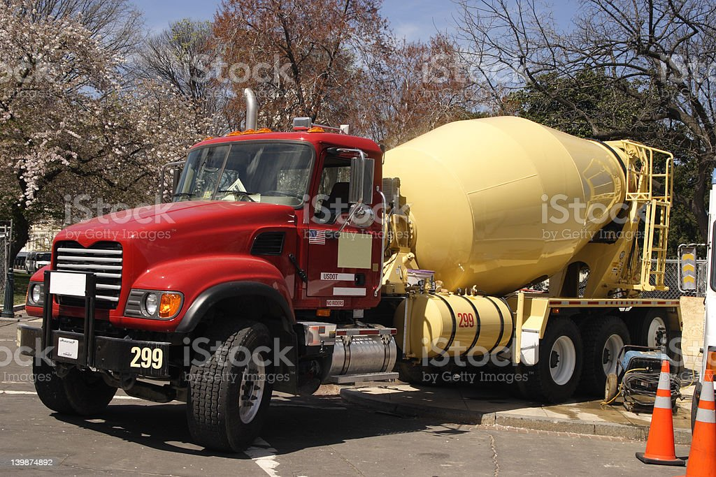 Cement Truck stock photo