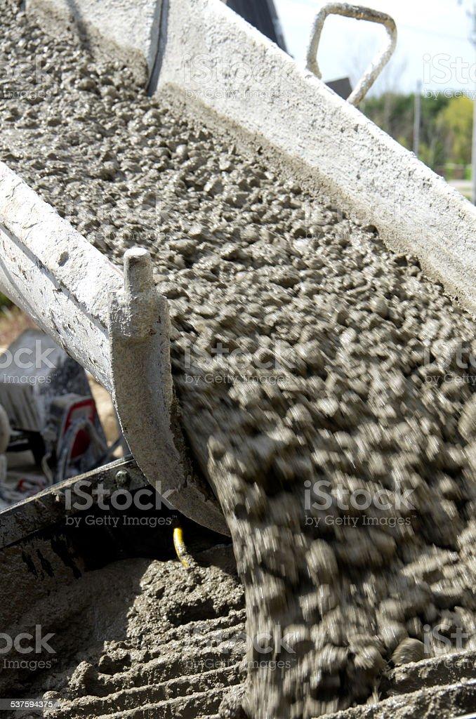 Cement Truck Unloading stock photo
