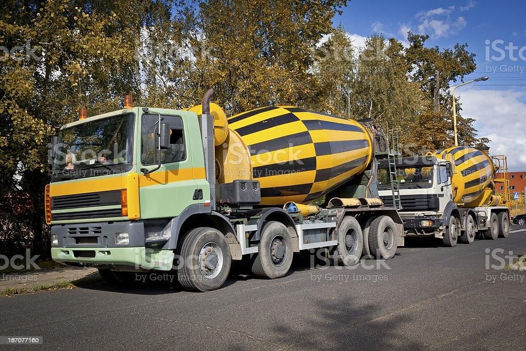 Cement Trucks royalty-free stock photo