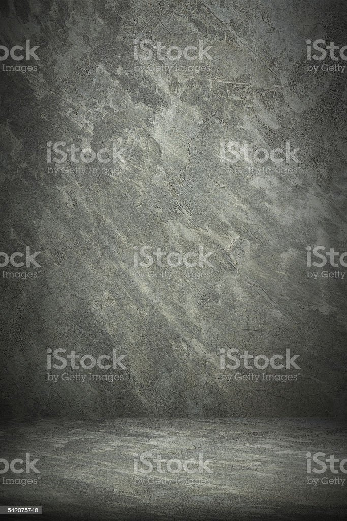 cement wall and floor for pattern and background stock photo