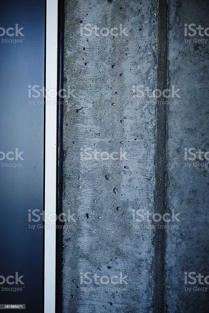Cement wall with black border stock photo