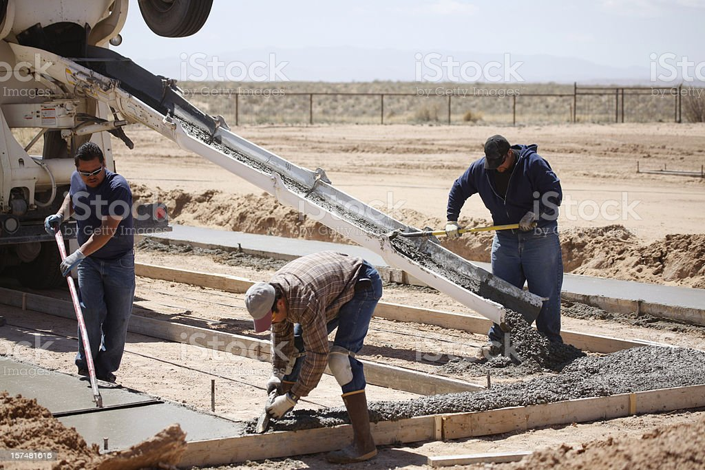 Cement Workers stock photo