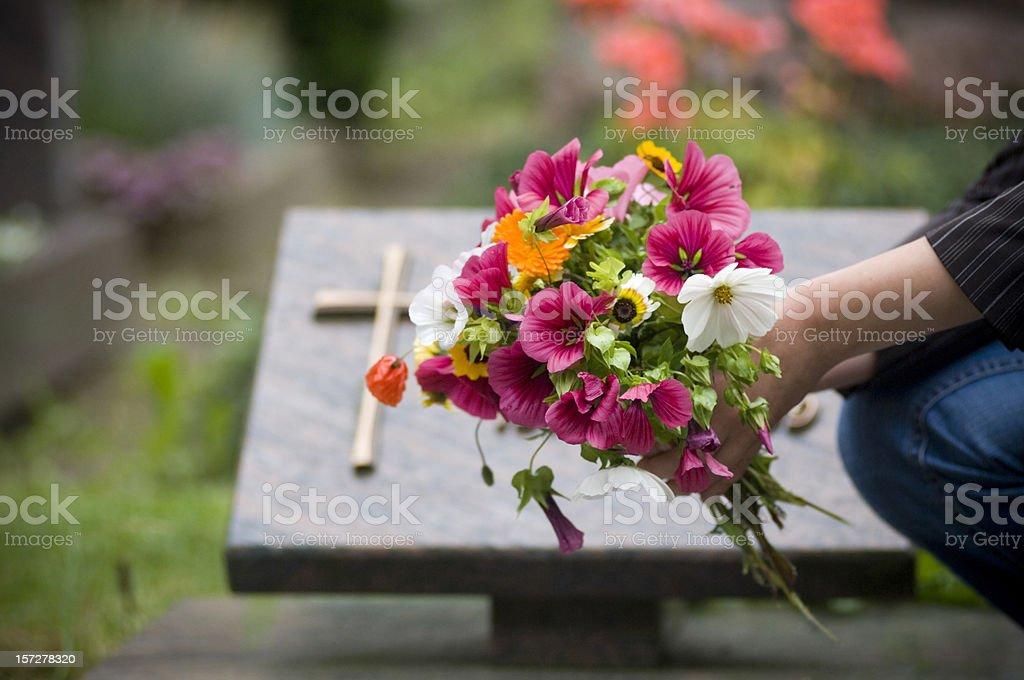 Cementary stock photo