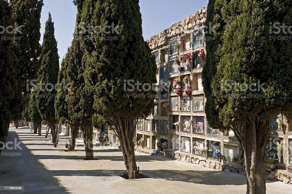Cementiri del Sud-Oest, Barcelona stock photo
