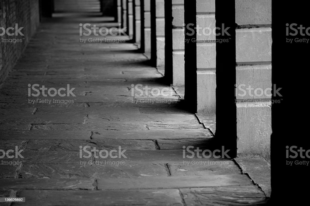 Cemetary Colunnades royalty-free stock photo
