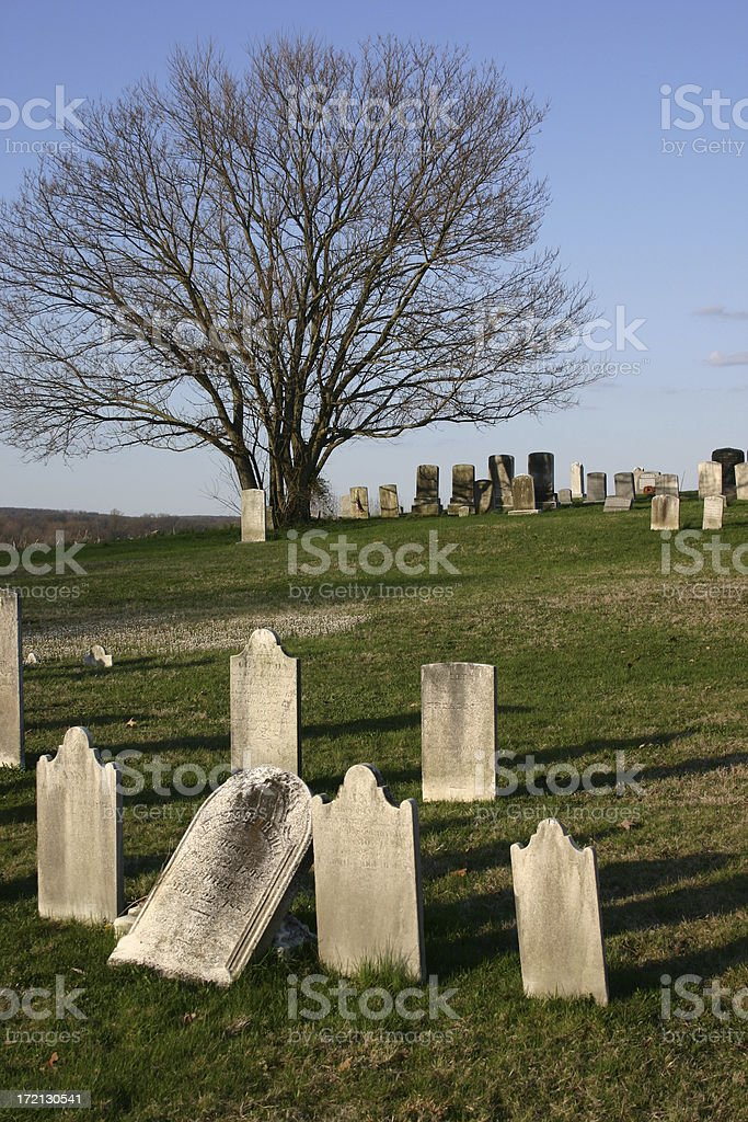 cemetary in the country stock photo