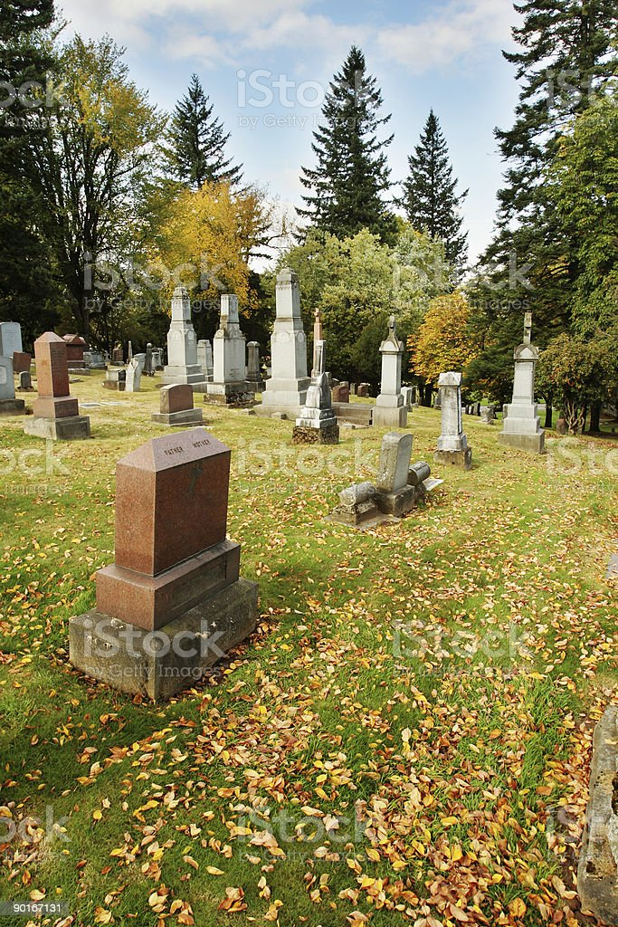 Cemetary in the Fall royalty-free stock photo