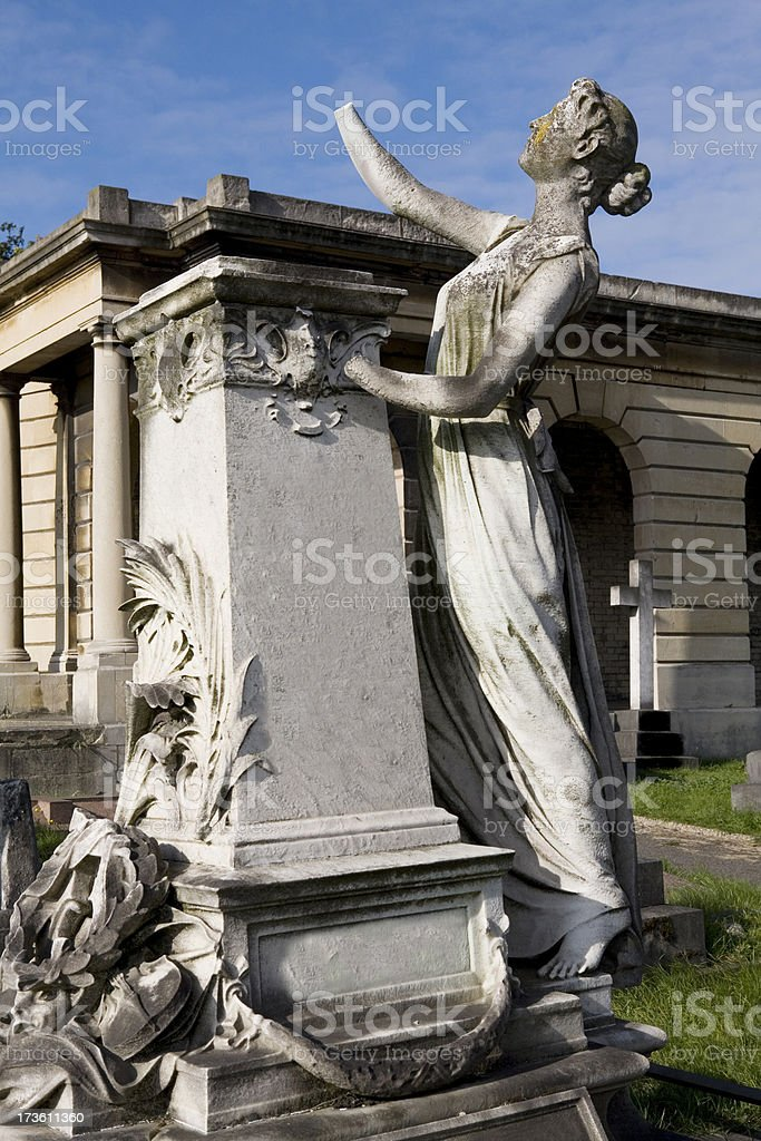 Cemetery Angel in London England stock photo