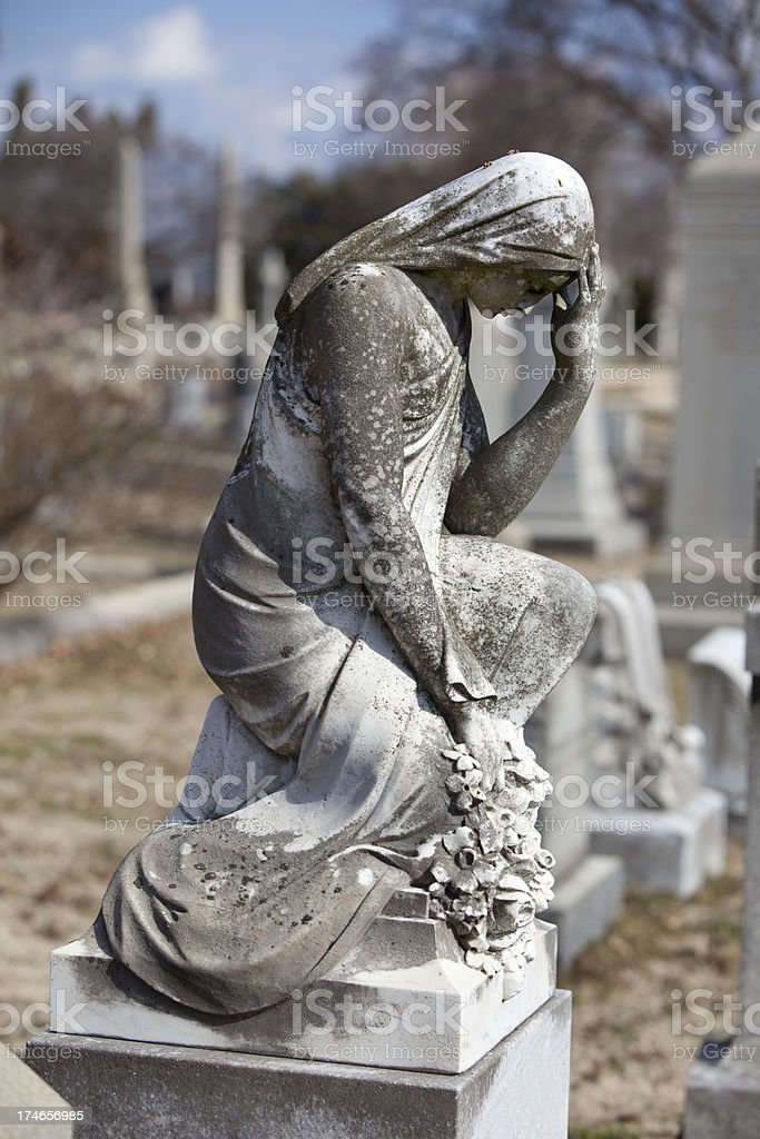 Cemetery Angel on Grave royalty-free stock photo