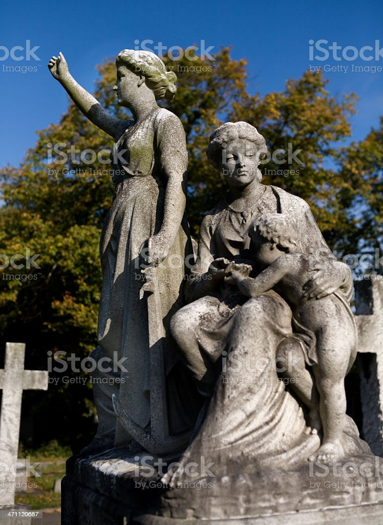 Cemetery Angels in London England stock photo
