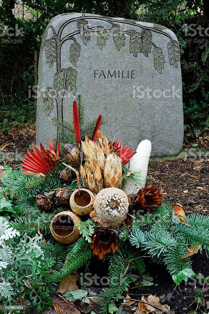 Cemetery at xmas royalty-free stock photo