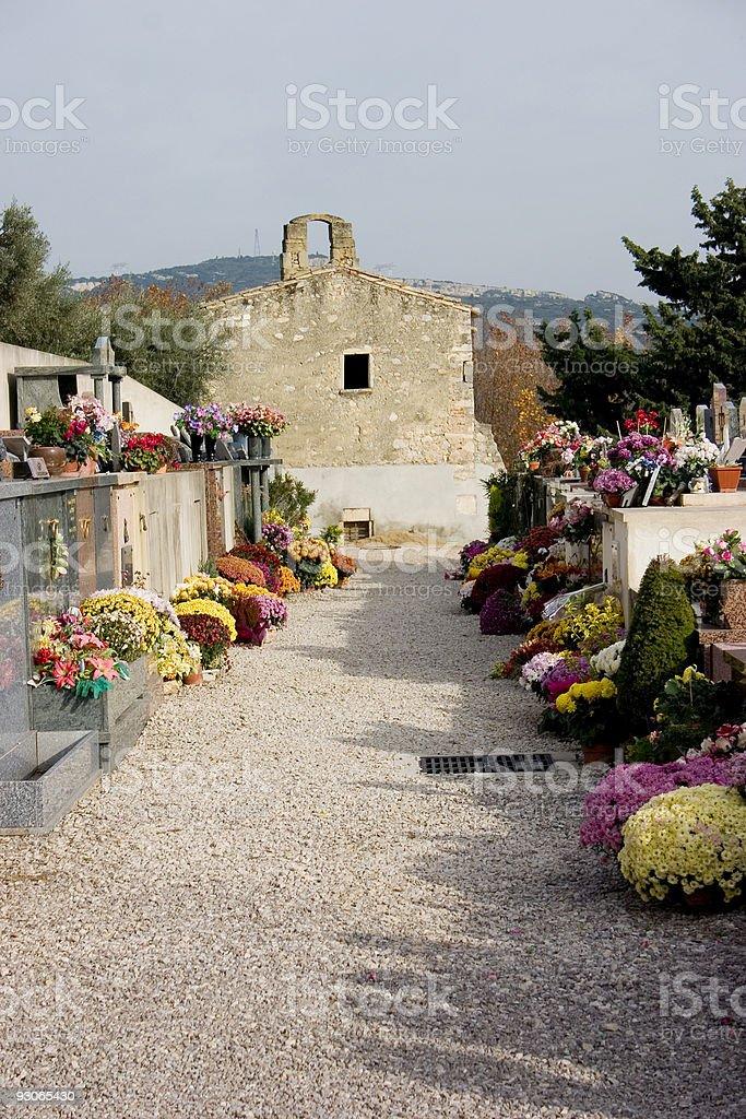 Cemetery chapel royalty-free stock photo