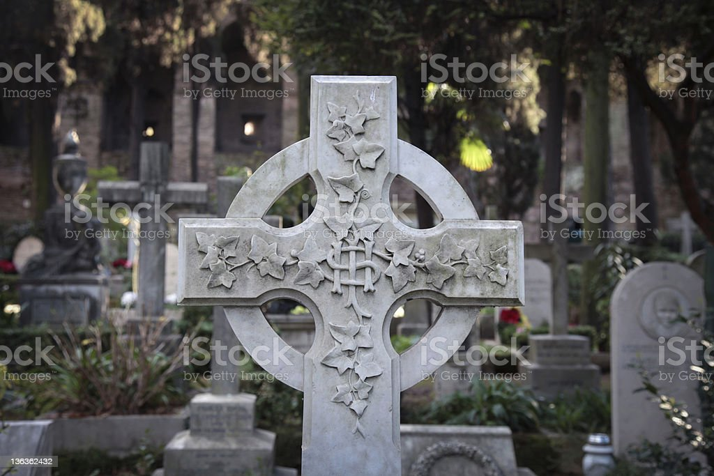 Cemetery cross royalty-free stock photo
