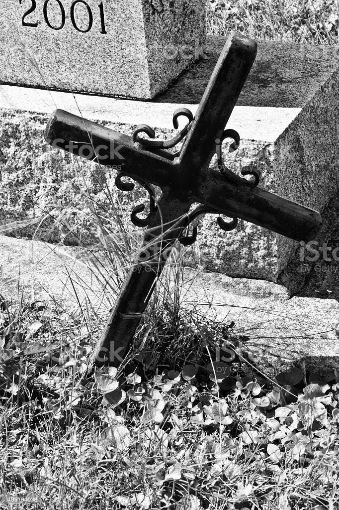 Cimetière Croix photo libre de droits