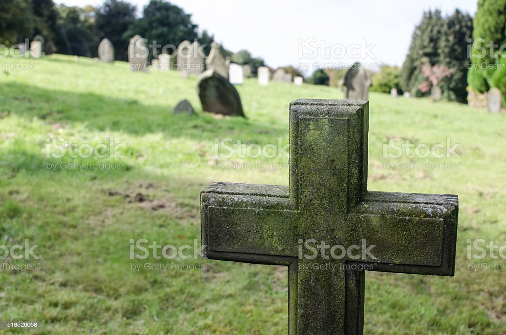 cemetery cross stock photo
