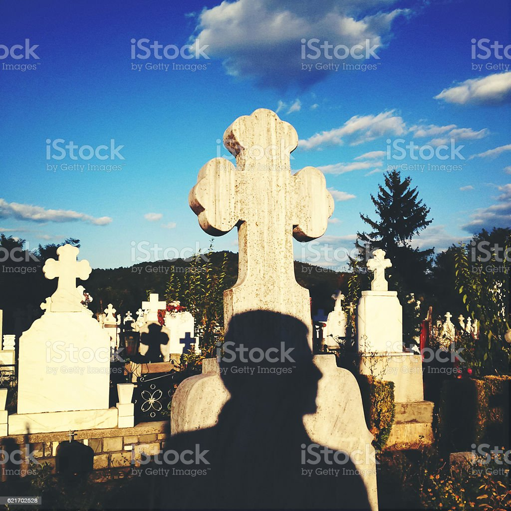 Cemetery death concept stock photo