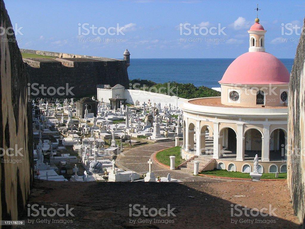 Cemetery El Morro Castle stock photo