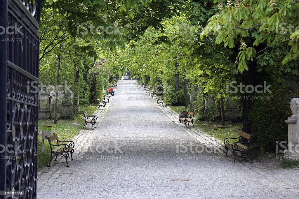 cemetery entrance royalty-free stock photo