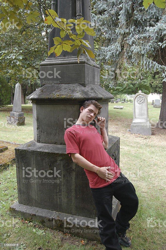 Cemetery Fun stock photo