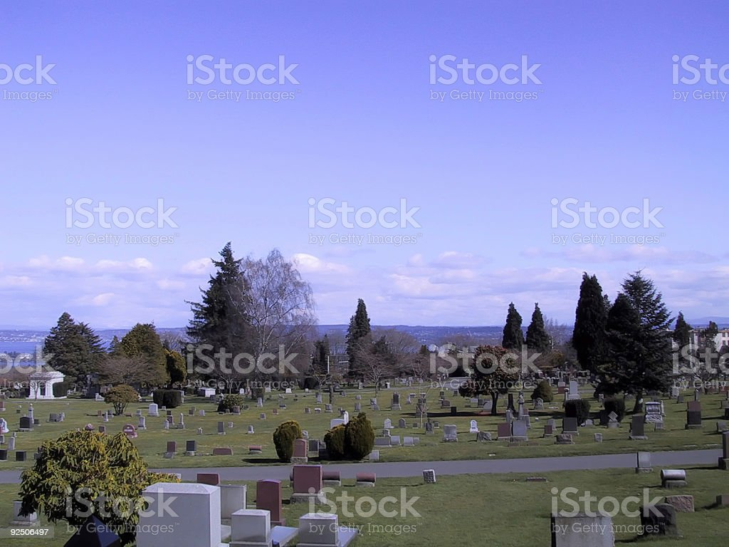 Cemetery Grand View royalty-free stock photo