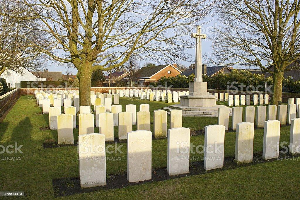 Cemetery great world war one flanders belgium stock photo