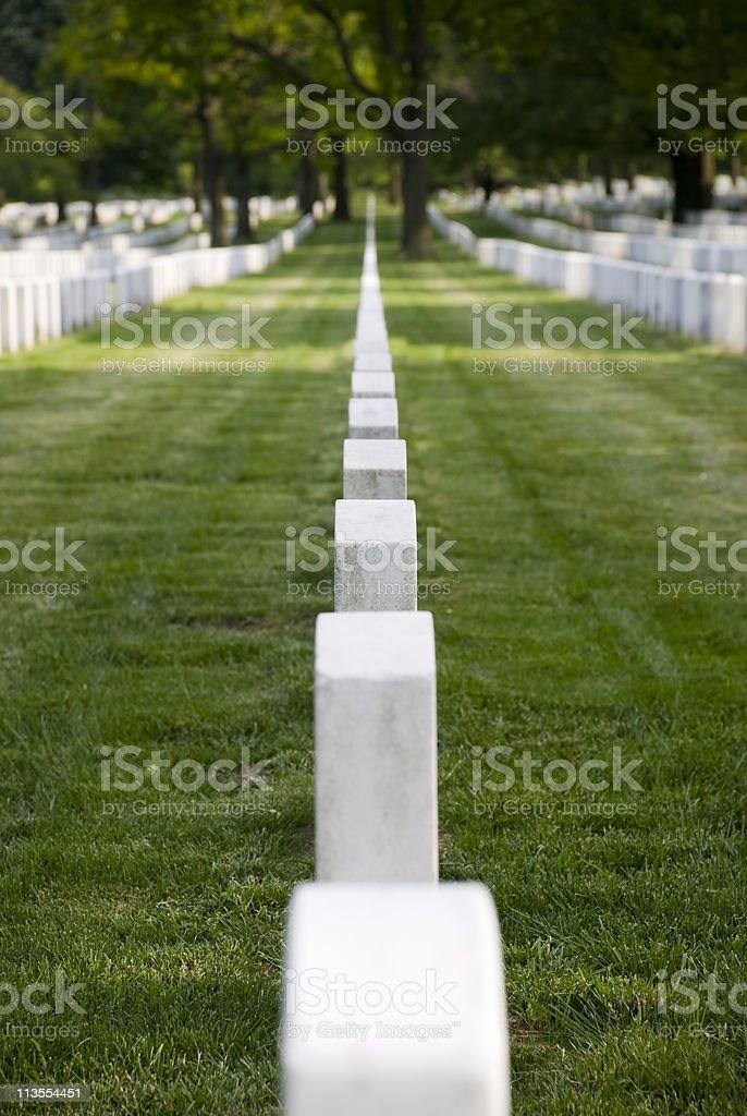 Cemetery Headstones royalty-free stock photo