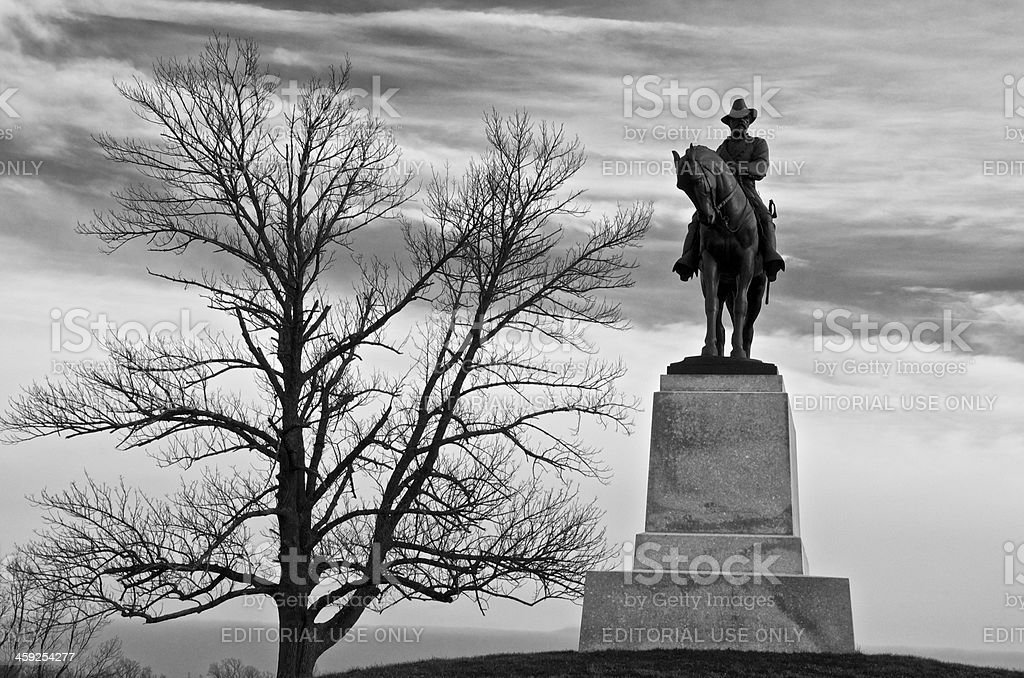 Cemetery Hill, Gettysburg American Civil War Battlefield, Pennsylvania USA stock photo