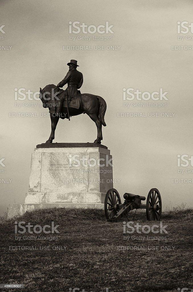 Cemetery Hill, Gettysburg, American Civil War Monument, Pennsylvania USA stock photo