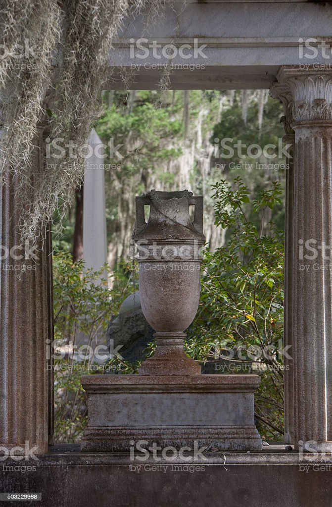 Cemetery in deep South stock photo