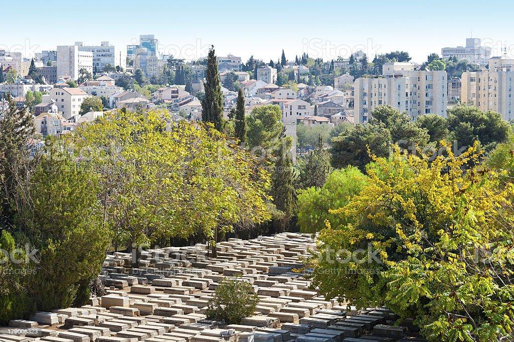 Cemetery in Jerusalem royalty-free stock photo