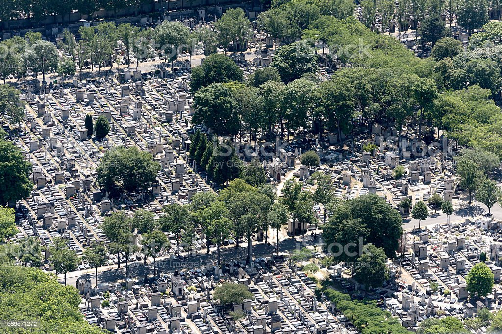 Cemetery in Montmartre, Paris stock photo