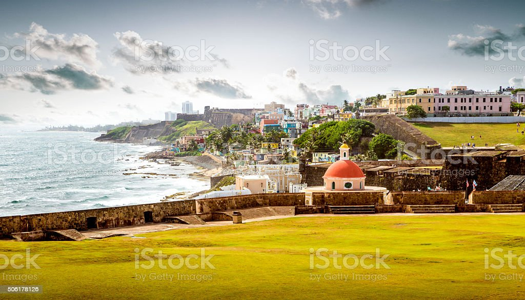 Cemetery in old San Juan, Puerto Rico stock photo
