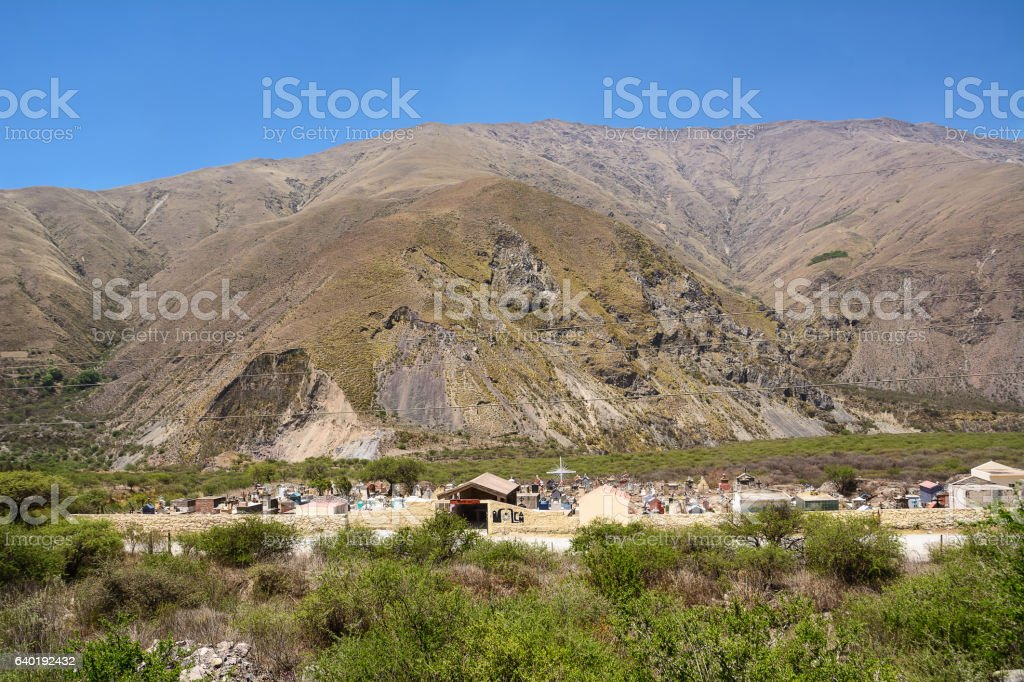 Cemetery in province of Jujuy stock photo