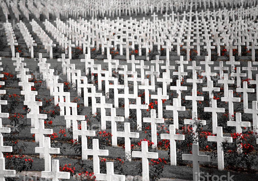 WWI Cemetery in Verdun stock photo