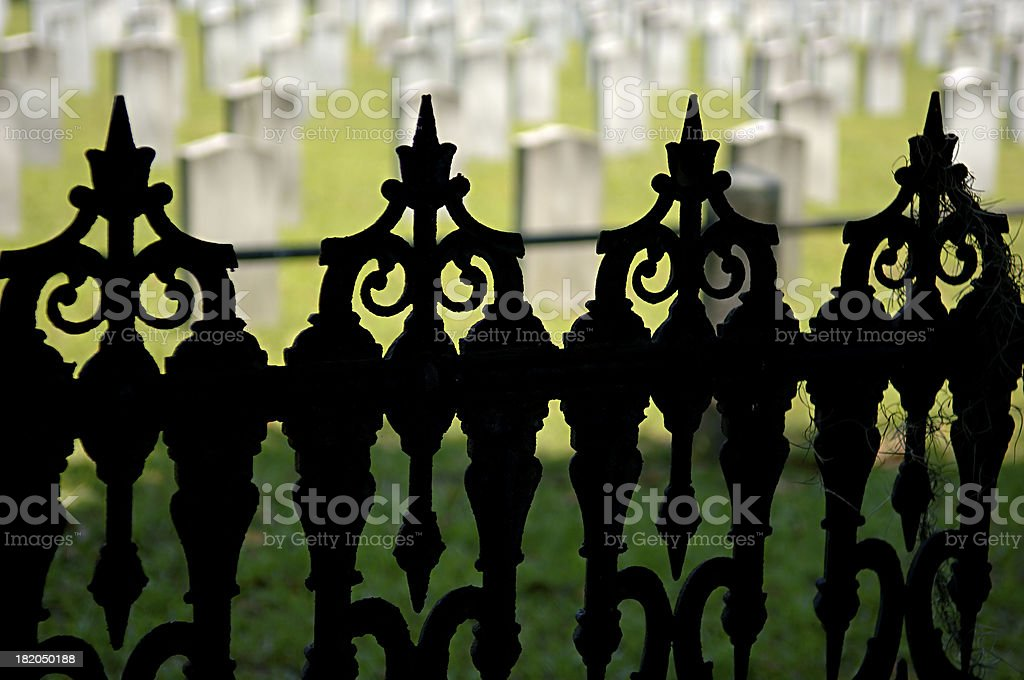 cemetery ironwork stock photo