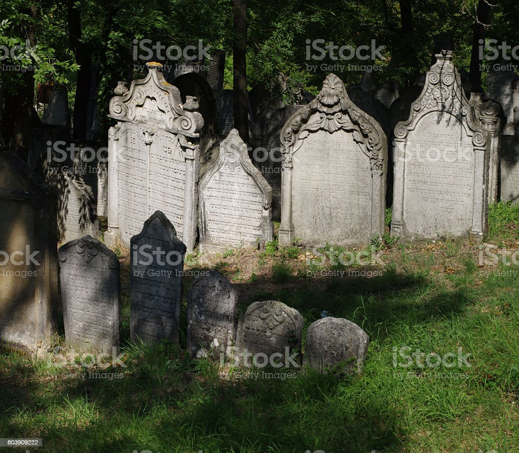 cemetery jewish tombstone stock photo