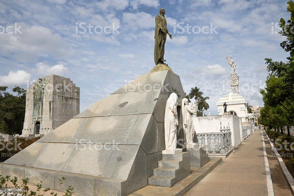 Cemetery main street, Havana stock photo