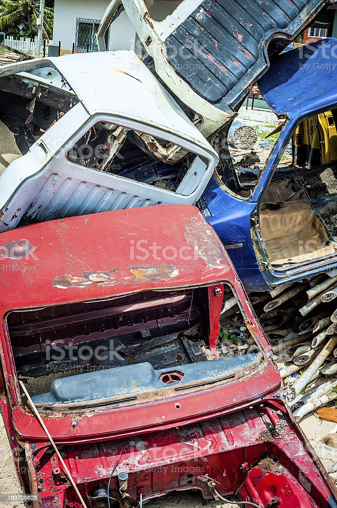 Cemetery of cars royalty-free stock photo